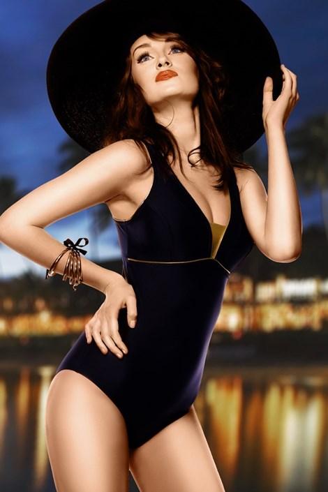 Damski kostium kąpielowy Anika - czarny jednoczęściowy