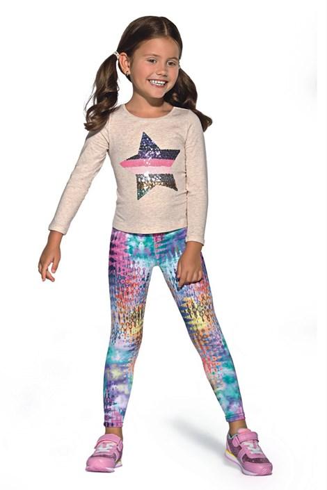Kolorowe legginsy dziecięce Dixi