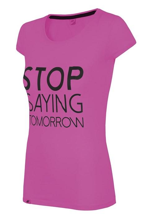 Damski T-shirt sportowy Stop