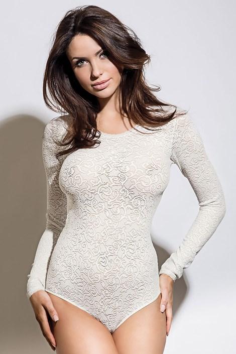Body damskie Meggy White koronkowe