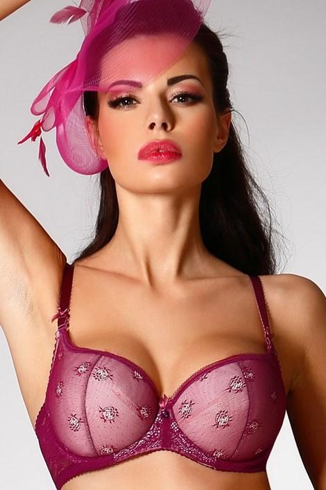 Biustonosz Purple Push-Up Half Bardot