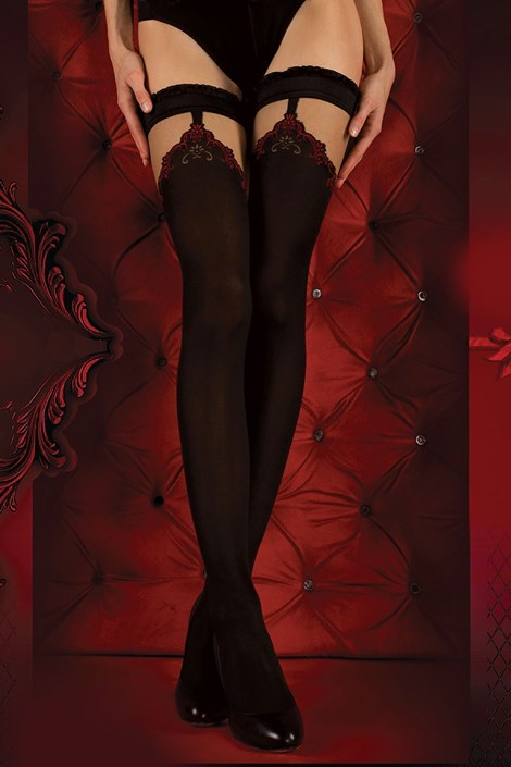 Luksusowe pończochy samonośne Red Intense 345