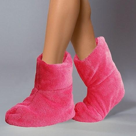 Ciepłe kapcie Pink
