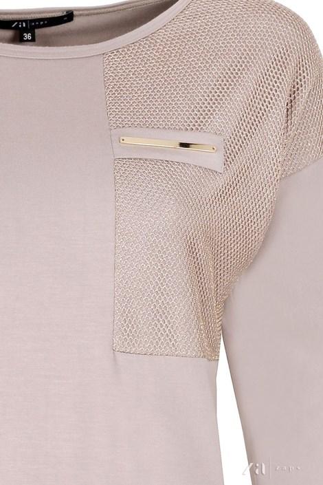 Elegancka damska bluzka Sati Beige