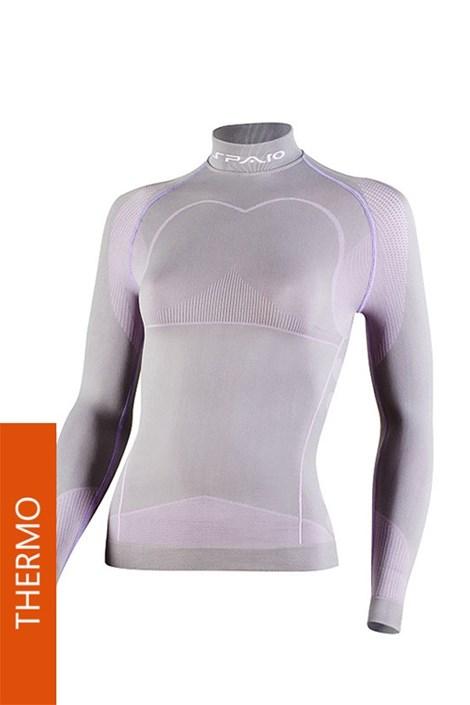Koszulka Thermo Line W03 damska siwo-różowa