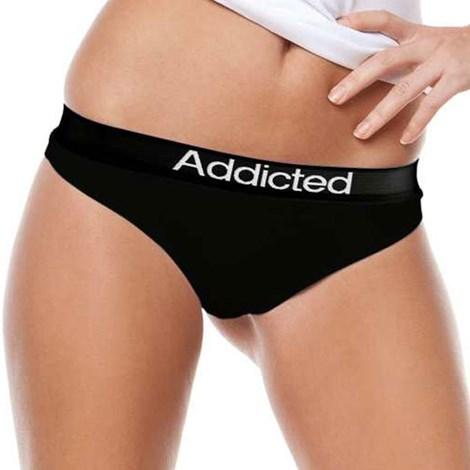 Stringi Addicted czarne