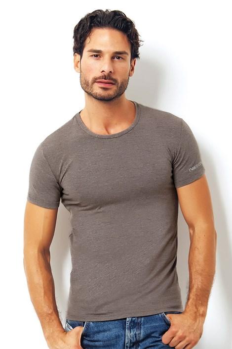 Męski włoski T-shirt Enrico Coveri 1504 Brown