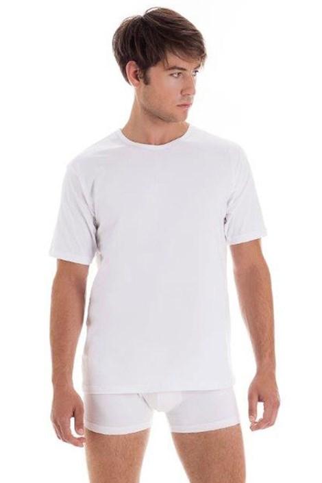 Męski bawełniany T-shirt z krótkimi rękawami White