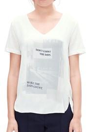 Damska bluzka z napisem V1 s.Oliver