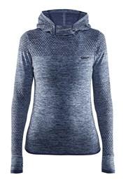 Damska bluza funkcyjna Craft Core Hood Seamless Blue