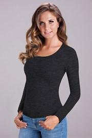 Damska bluzka bawełniana z długim rękawem Nika Grey