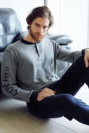 Męski dres bawełniany Dario - szary