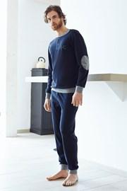 Męski dres bawełniany Angelo - niebieski