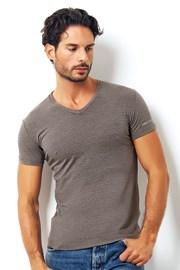 Męski włoski T-shirt Enrico Coveri Coveri1505 Brown