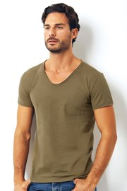 Męski T-shirt włoskiej marki Enrico Coveri 1512 Salvia