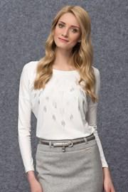 Luksusowa damska bluzka z mieniącym się elementami Goga