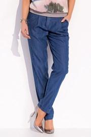 Luksusowe damskie spodnie z delikatnego dżinsu - Ruby