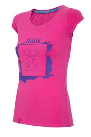 Damski T-shirt sportowy Think out of box