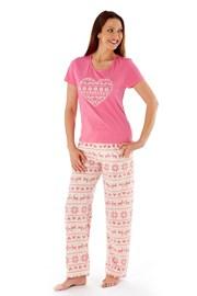 Damska piżama Hearty Pink