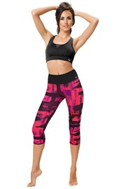 Sportowe capri leggins Red city