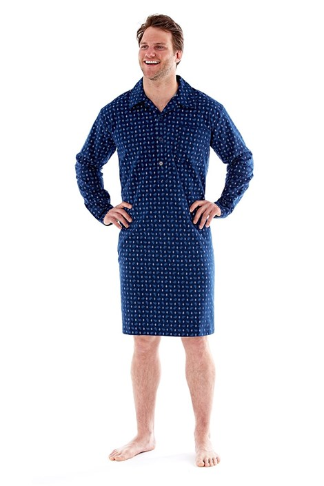 Męska koszula nocna Robert Navy
