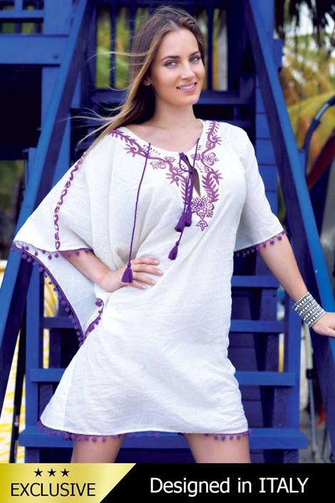 Luksusowa włoska sukienka plażowa 5141KH