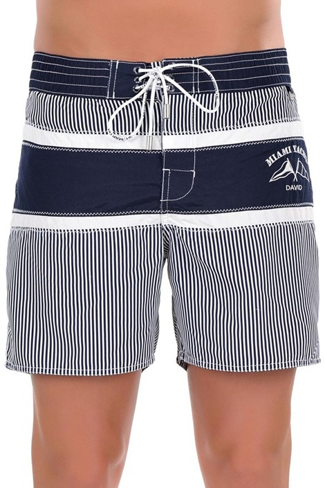 Włoski luksusowy strój kąpielowy męski 5952D6-  dłuższe nogawki