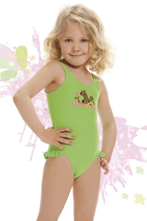 Strój kąpielowy dziewczęcy Smiling zielony