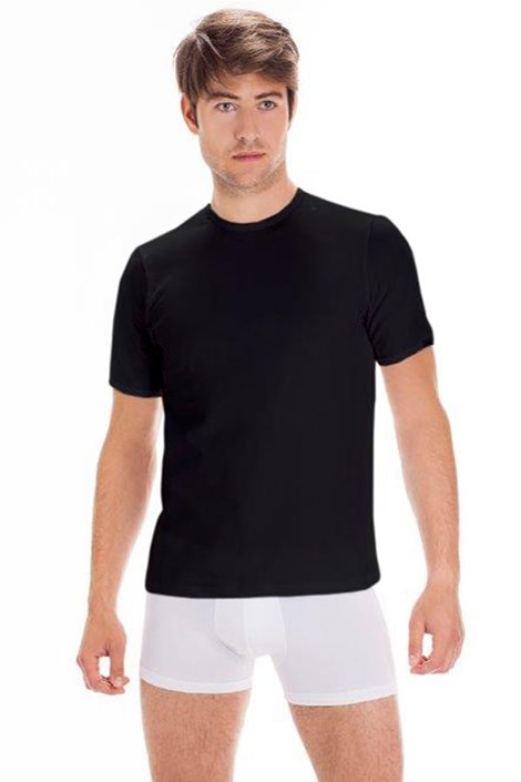 Męski bawełniany T-shirt z krótkimi rękawami Black