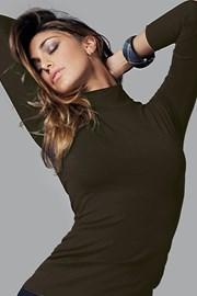 Damska koszulka bawełniana z długim rękawem