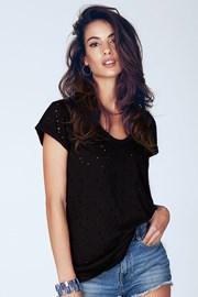 Damski T-shirt Dita Black