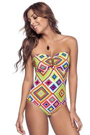 Damski jednoczęściowy kostium kąpielowy Phax Rombus