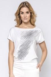 Elegancka damska bluzka z krótkimi rękawami Hettie