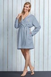 Damski szlafrok z bawełny Debi Grey