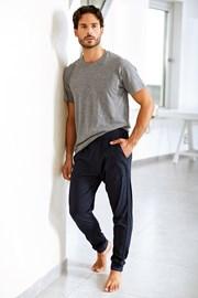 Męskie spodnie bawełniane Enrico Coveri niebieskie