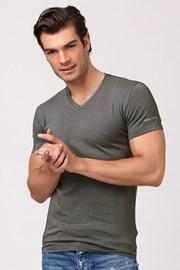 Męski bawełniany T-shirt włoskiej produkcji Enrico Coveri ET1501 Grigio