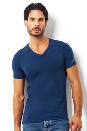 Męski T-shirt włoskiej produkcji Enrico Coveri 1501 Oceano