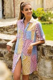 Letnia sukienka koszulowa z bawełny Anna z kolekcji Iconique