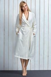 Damski szlafrok z bawełny Ina Ecru