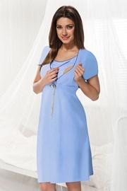 Koszula nocna dla ciężarnych i karmiących Dorota niebieska