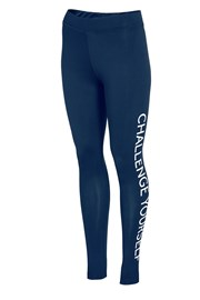 Damskie legginsy sportowe 4F Challenge Blue