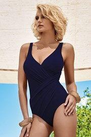 Luksusowy wyszczuplający kostium kąpielowy Athena Blue