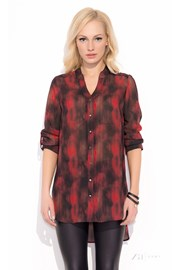 Damska bluzka koszulowa Merlina RED