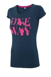 Damski T-shirt sportowy 4F One Way Navy