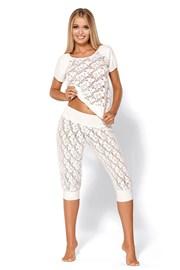Kusząca luksusowa piżama Thelma Ecru