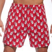 Męskie bokserki Walen czerwone