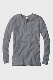 Męski prążkowany T-shirt z długimi rękawami CECEBA