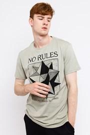 Męski T-shirt No Rules beżowy