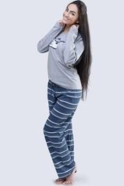 Damska piżama bawełniana Penguin szara