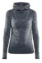 Damska bluza funkcyjna Craft Core Hood Seamless Grey
